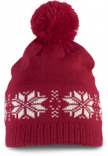 Bonnet tricoté motif étoile