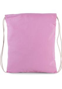 Petit sac à dos en coton bio avec cordelettes