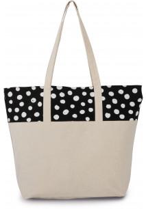Sac Shopping motif pois