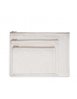 Pochette zippée recyclée