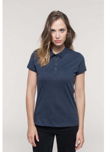 Polo jersey manches courtes femme
