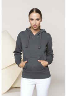 """Sweat-shirt capuche """"mélange"""" femme"""