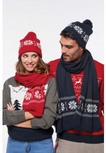 Echarpe tricotée motif étoile