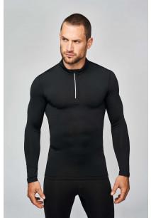 T-Shirt running 1/4 zip manches longues