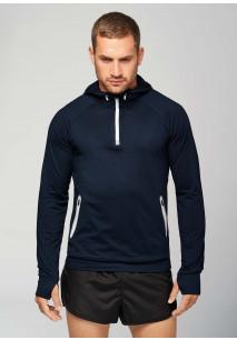 Sweat-shirt capuche 1/4 zip sport
