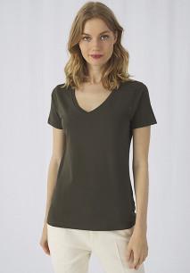 T-shirt Organic Inspire col V Femme