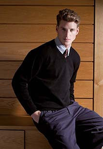 V NECK LAMBSWOOL JUMPER - PULL LAMBSWOOL COL V