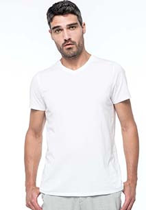 T-shirt Supima® col V manches courtes homme