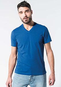 T-shirt coton bio col V homme