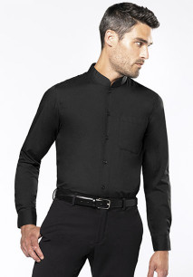 CHEMISE COL MAO MANCHES LONGUES