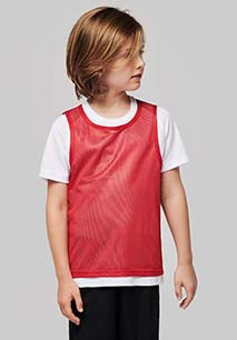 Chasuble en filet léger multisports enfant