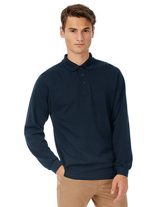 POLO HOMME SAFRAN MANCHES LONGUES