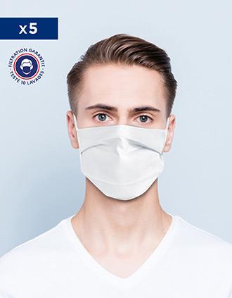 Masque AFNOR UNS1 - Lavable et réutilisable avec barrette nasale