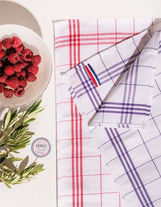 Essuie-verres à carreaux Origine France Garantie