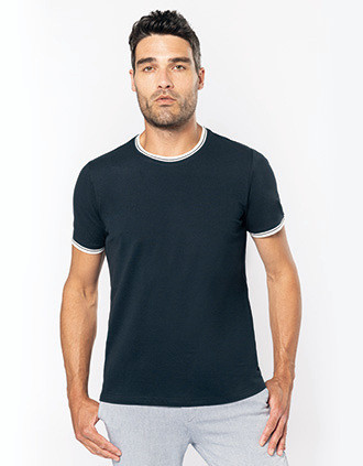 T-shirt maille piquée col rond homme