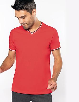 T-shirt maille piquée col V homme