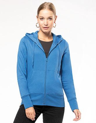 Sweat-shirt écoresponsable zippé à capuche femme