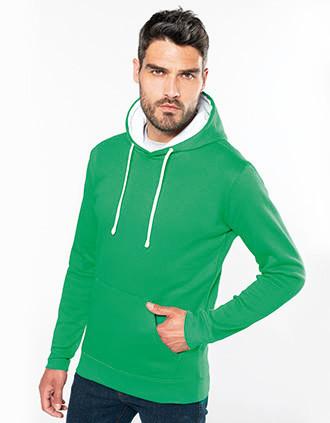 Sweat-shirt capuche contrastée homme