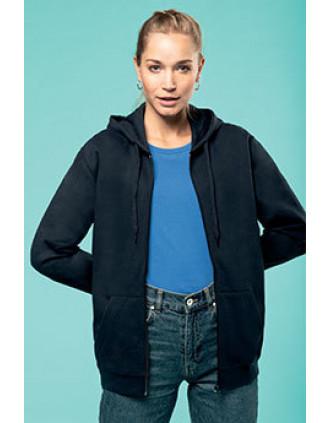 Sweat-shirt zippé capuche