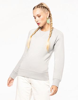 Sweat-shirt Bio col rond manches raglan femme