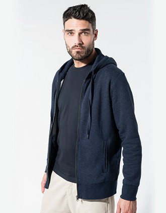 Sweat-shirt Bio zippé capuche homme