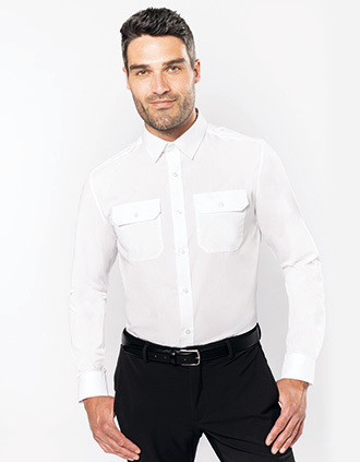 Chemise pilote manches longues homme