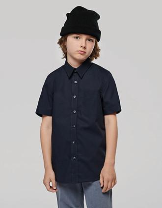 Chemise popeline manches courtes enfant