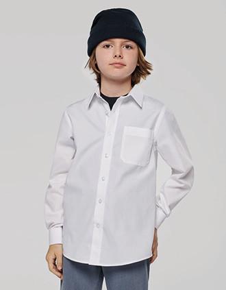 Chemise popeline manches longues enfant
