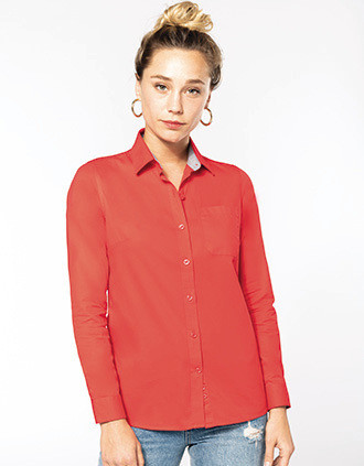 Chemise coton Nevada manches longues femme
