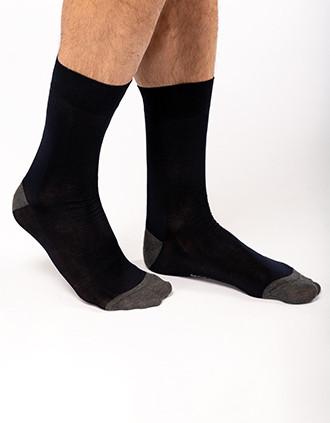 Chaussettes de ville mi-longues coton mercerisé Orgine France Garantie