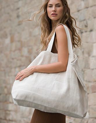 Grand sac de shopping fourre-tout esprit rustique