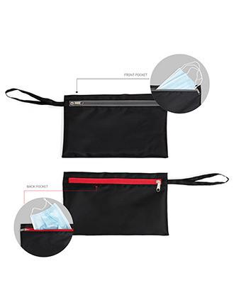 Pochette range-masques à double compartiment