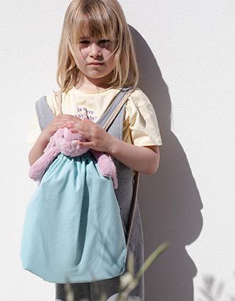 Petit sac à dos recyclé à cordon coulissant - Taille enfant