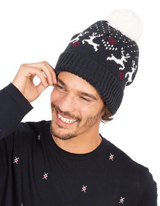 Bonnet de Noël motifs rennes