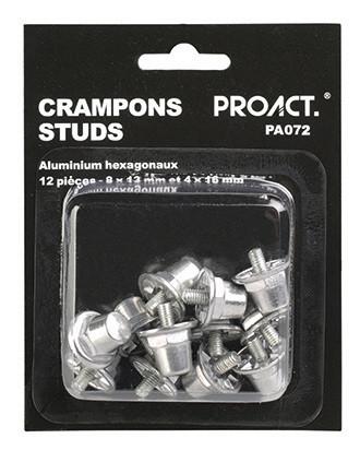 Boîte de 12 crampons alu hexagonaux