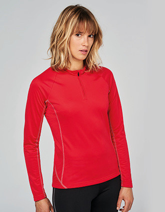 Sweat running 1/4 zip femme