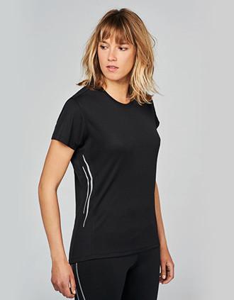 T-shirt de sport bi-matière manches courtes femme