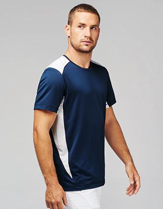 T-shirt de sport bicolore unisexe