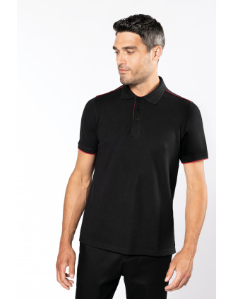 Polo DayToDay contrasté manches courtes homme