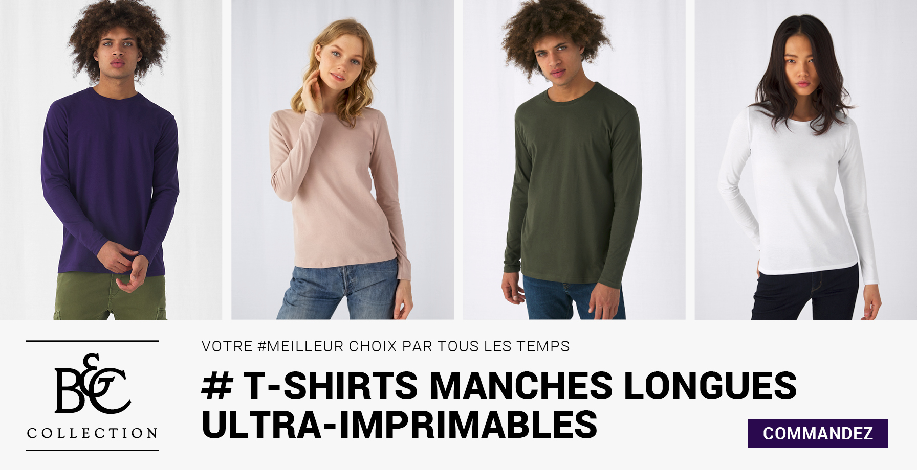 B&C - T-SHIRTS MANCHES LONGUES